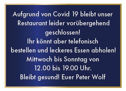 Aktueller Hinweis für das Restaurant Zwölf Apostel in Düsseldorf