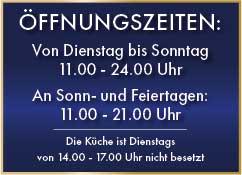 Aktuelle Öffnungszeiten des Restaurants Zwölf Apostel in Düsseldorf