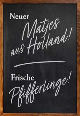 Matjes und Pfifferlinge im Restaurant Zwölf Apostel in Düsseldorf